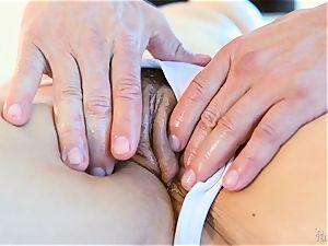 Roasting warm light-haired Sarah Vandella enjoys to knocker poke